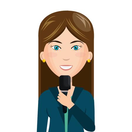 news reporter: breaking news reporter character vector illustration design