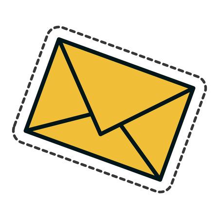 envelope letter isolated icon vector illustration design Illustration
