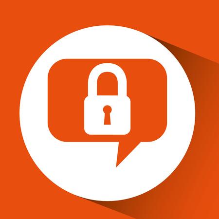 protection message chat digital vector illustration eps 10 Illustration