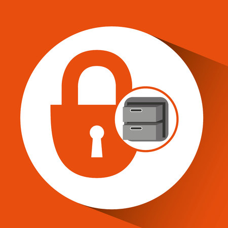 security file cabinet icon design vector illustration eps 10
