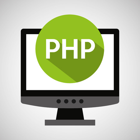 echnology: computer web development php vector illustration eps 10