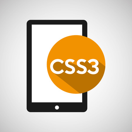 css3: web development smartphone css3 vector illustration eps 10