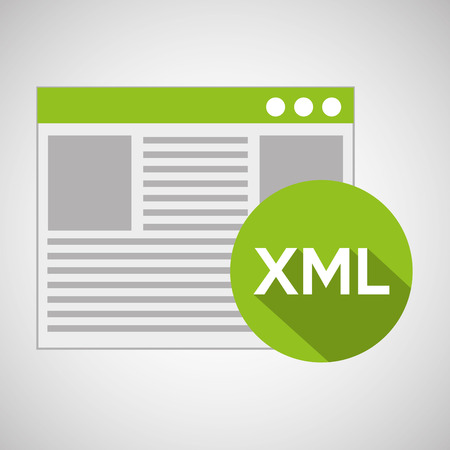 xml: web development page code xml vector illustration eps 10 Illustration