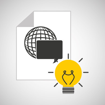 programming code: idea code web programming globe vector illustration eps 10