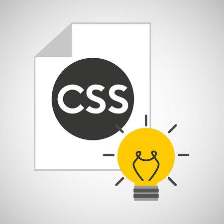 css: idea code web program css vector illustration eps 10 Illustration