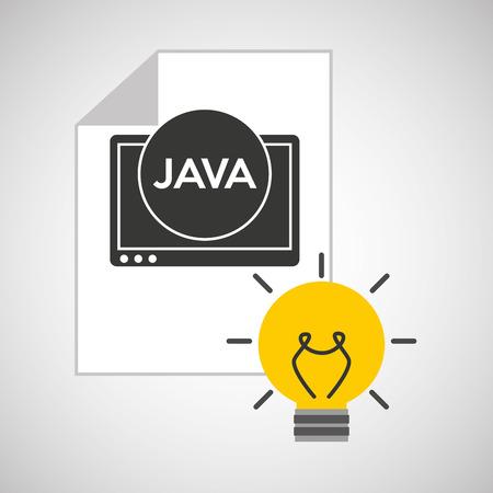 idea code web program java vector illustration eps 10