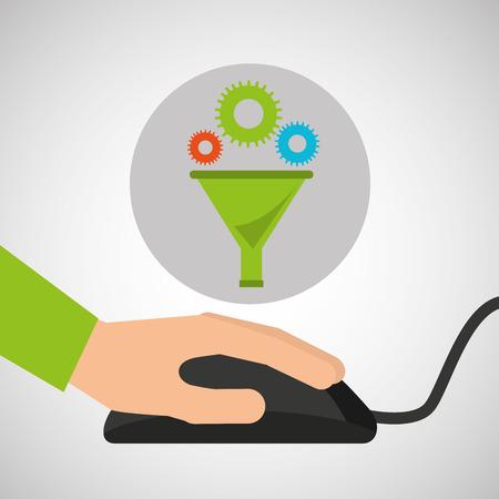 users video: development app technology data filter vector illustration eps 10