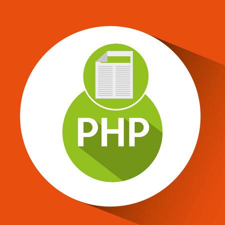web development document php vector illustration Illustration