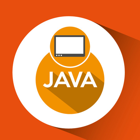 web development java technology vector illustration