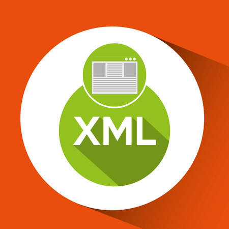 xml: web development page code xml vector illustration