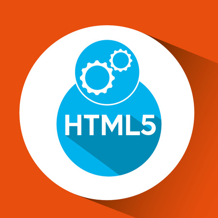 html5: web development gears html5 vector illustration