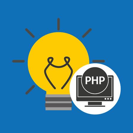 idea code web program php vector illustration Illustration