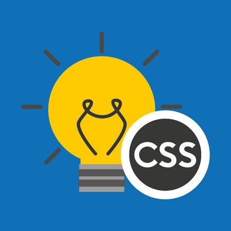 idea code web program css vector illustration Illustration