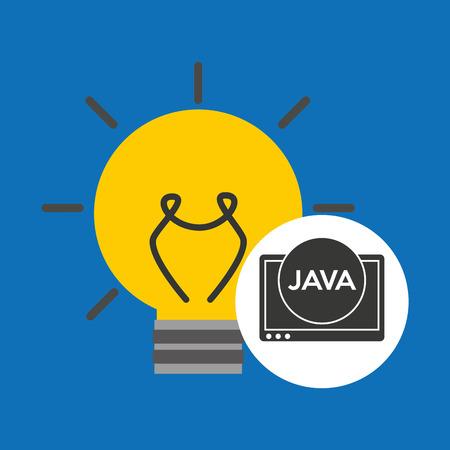 idea code web program java vector illustration Illustration