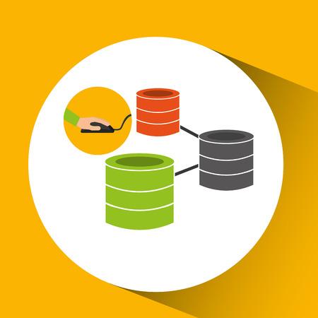 programmer software data base design vector illustration Illustration