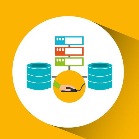 development app technology data center system vector illustration