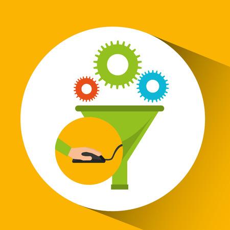 development app technology data filter vector illustration