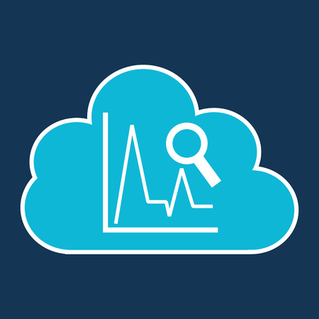 developing: cloud code developing statistics search vector illustration