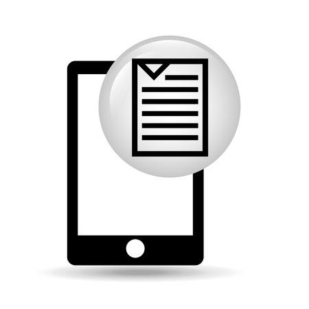 document file: smartphone screen document file design vector illustration