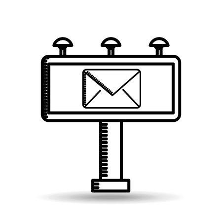 correspondencia: correspondencia de correo electrónico concepto gráfico icono ilustración vectorial