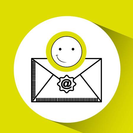 dissatisfaction: emoticon happy email concept vector illustration eps 10