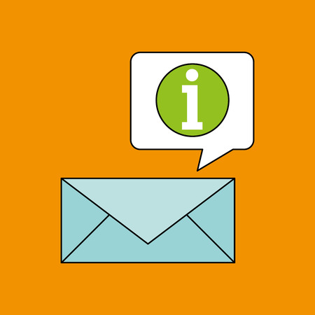 receiving: email receiving message bubble chat design vector illustration