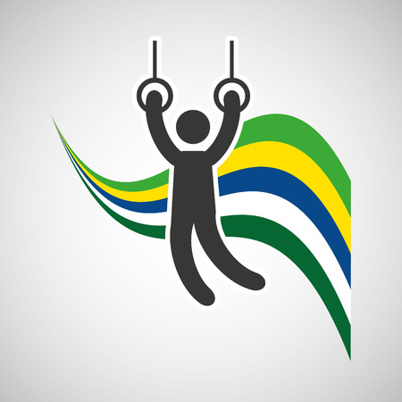 gymnastic still rings sportsman flag background design vector illustration eps 10