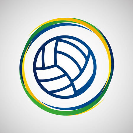 volleyball sport badge icon vector illustration eps 10