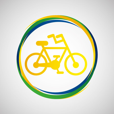bicycle pump: bike cycling sport badge icon vector illustration eps 10