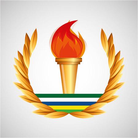 burning torch   games emblem vector illustration eps 10