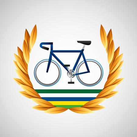 accelerated: cycling   games emblem vector illustration eps 10 Illustration