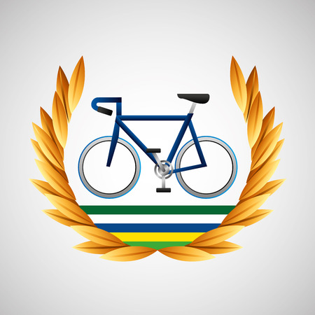 cycling   games emblem vector illustration eps 10 Illustration