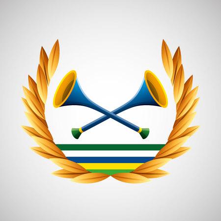 vuvuzela   games emblem vector illustration eps 10