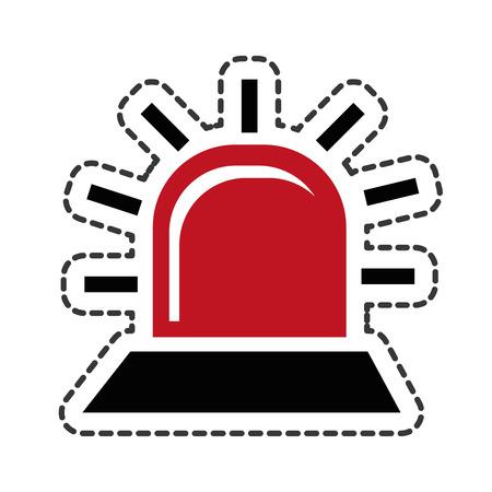 alarm light isolated icon vector illustration design