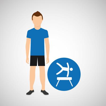 sport man concept artistic gymnastic icon design vector illustration eps 10