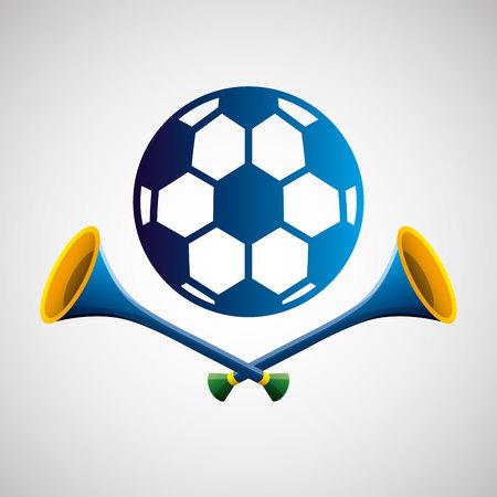 soccer sport   blue badge vector illustration eps 10