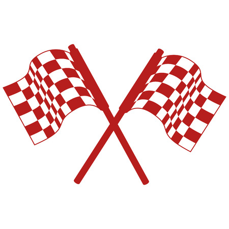 rally flags isolated icon vector illustration design