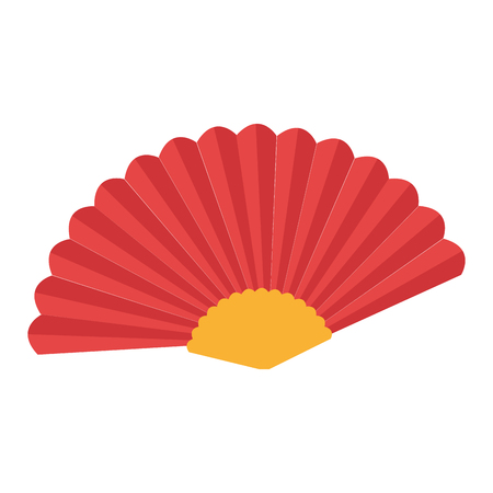accesory: fan flamenco accesory icon vector illustration design