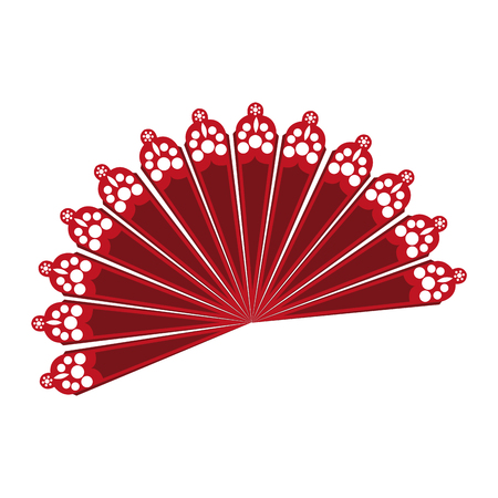 fan flamenco accesory icon vector illustration design