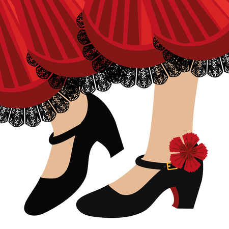 Traditional flamenco shoes icon vector illustration design