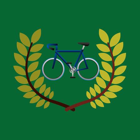 cycling games emblem vector illustration Illustration