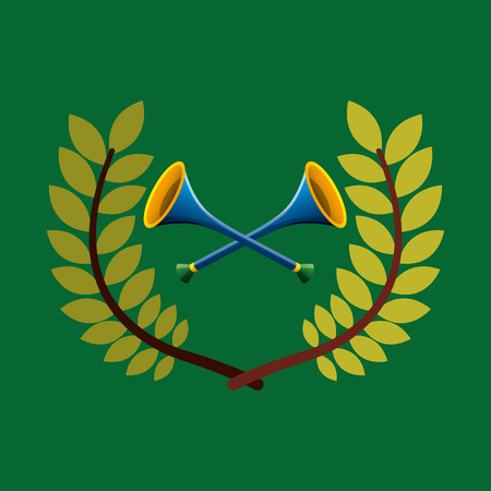 vuvuzela  emblem vector illustration Illustration