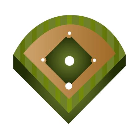 baseball diamond: baseball field diamond form icon graphic vector illustration