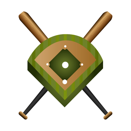 outfield: baseball field diamond form icon graphic vector illustration