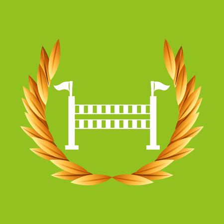 equestrian sport badge vector illustration