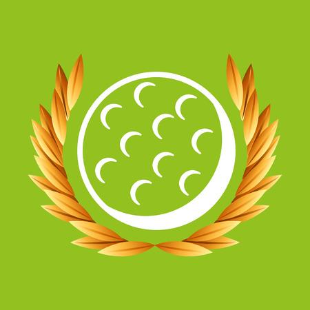 pool player: golf sport   badge vector illustration