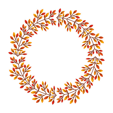 autumn leafs decoration icon vector illustration design Illustration