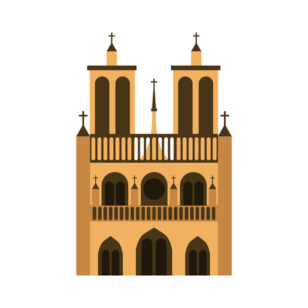 cathedral notre dame icon vector illustration design Illustration