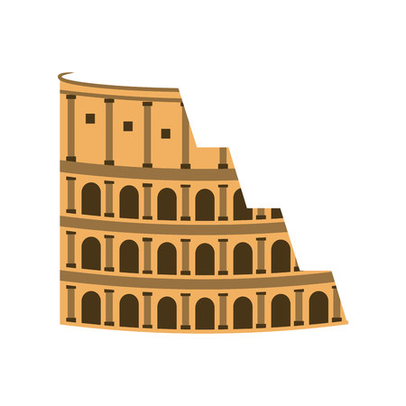 rome coliseum landmark icon vector illustration design