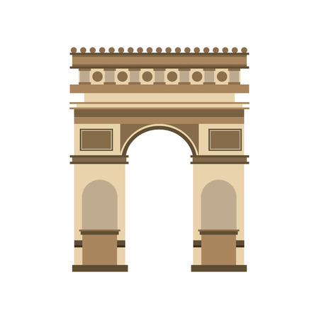 european culture: arch of triumph landmark icon vector illustration design